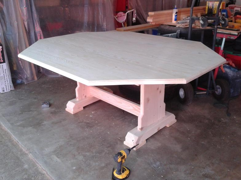 Custom Hand Built Drop Leaf Table Built to Fit in Bay Window