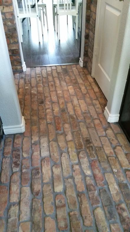 Old Chicago Brick Pavers installed in Kitchen and Wet Bar ...