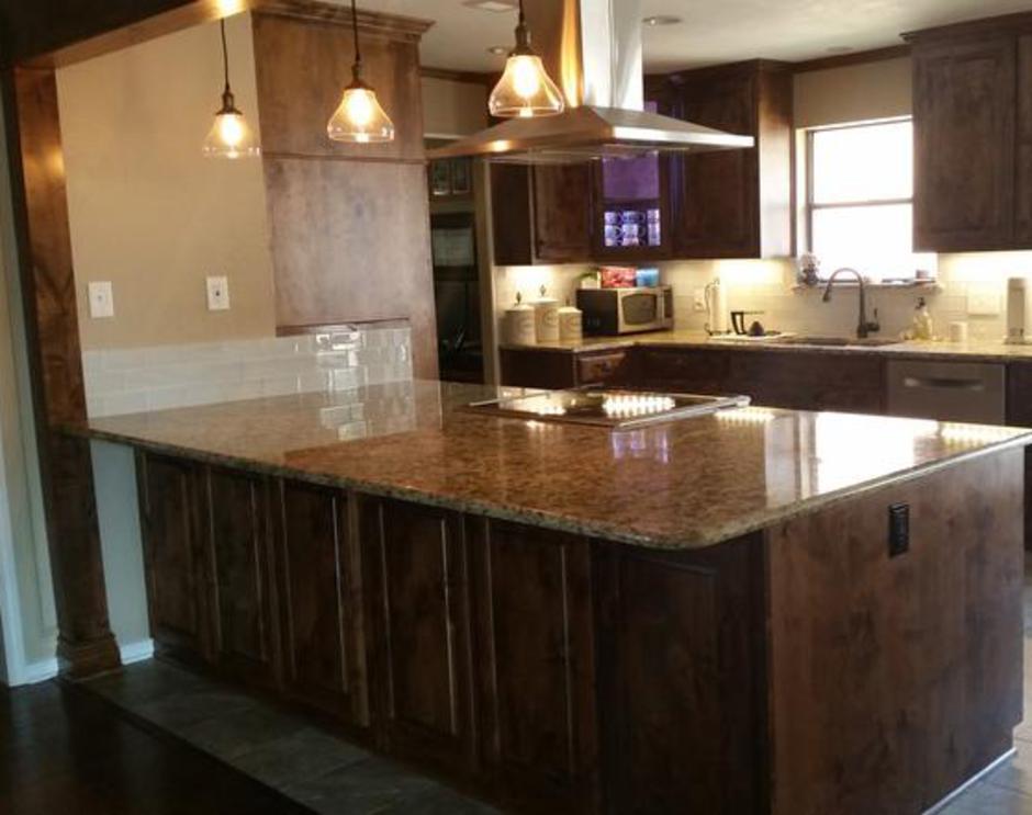 custom built kitchen featuring knotty alderwood cabinets knotty alderwood kitchen  rh   craigpruitt com